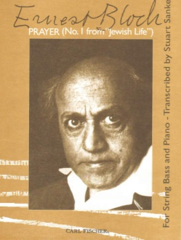 "Bloch - Prayer No. 1from ""Jewish Life"" for String Bass and Piano"