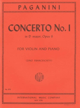 Paganini - Concerto No. 1 in D major, Op 6 for Violin and Piano