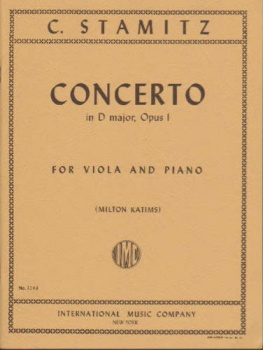 C. Stamitz - Concerto in D major, Op 1, for viola and piano