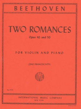 Beethoven - Two Romances, Op. 40 and 50, for Violin and Piano