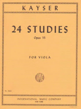 Kayser - 24 Studies Op 55 for Viola