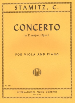 Stamitz - Concerto In D major, Op1, for Viola and Piano