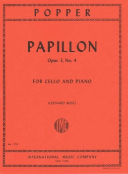 Popper - Papillon Op 3, No. 4, for Cello and Piano