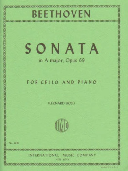Beethoven: Sonata In A Major, Op 69
