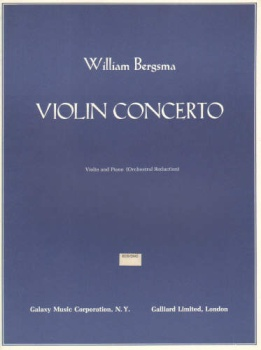 Violin Concerto, Violin and Piano (Orchestral Reduction)