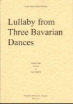 Lullaby from Three Bavarian Dances, Parts
