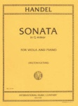 Handel - Sonata In G minor for Viola and Piano
