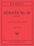 Handel - Sonata No10 In G minor, for Viola and Piano