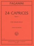 Paganini - 24 Caprices, Op 1 for Violin Solo