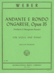 Weber - Andante And Rondo Ongarese,  Op 35 for Viola and Piano