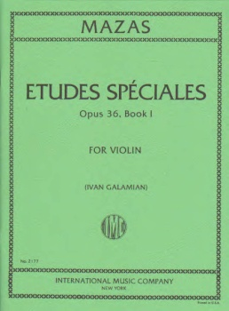 Mazas - Etudes Speciales, Op. 36, Book 1 for Violin