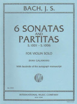 J.S. Bach - 6 Sonatas And Partitas for Violin Solo