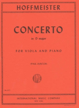 Hoffmeister - Concerto in D Major for Viola and Piano