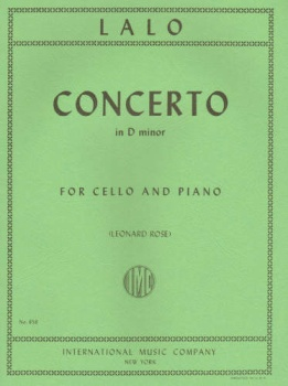 Lalo - Concerto in D minor, for Cello and Piano