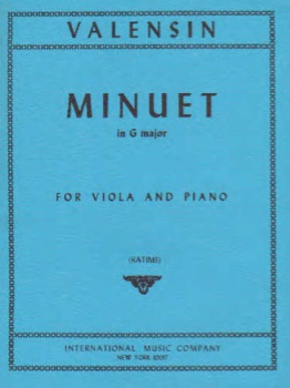 Valensin - Minuet In G major for Viola and Piano