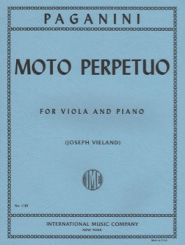 Paganini - Moto Perpetuo for Viola and Piano