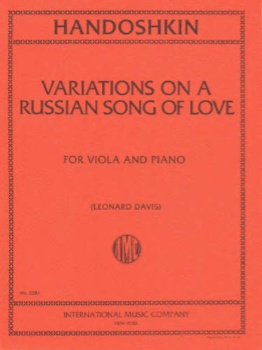 Variations on a Russian Song of Love for Viola and Piano