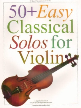 50 Plus Easy Classical Solos For Violin