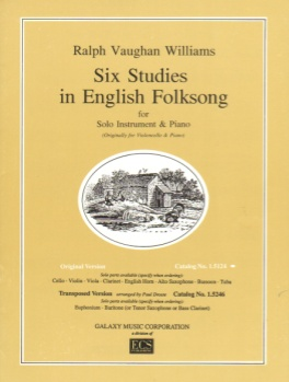 Six Studies in English Folksong for Viola and Piano (originally for violoncello and piano)